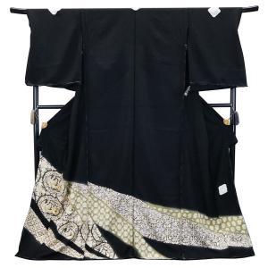SALE セール 手縫い仕立て付  正絹 黒留袖 手描き友禅  to-521 華文に鳳凰   結婚式  婚礼  和装|kyouto-usagido