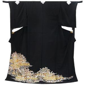 フルオーダー 手縫い仕立て付き 特選品 正絹 総手刺繍黒留袖 to-522 茶屋ヶ辻文様 婚礼 結婚式|kyouto-usagido
