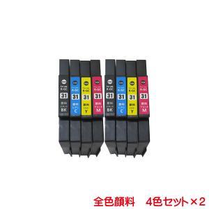 GC31K GC31C GC31M GC31Y 対応 リコー互換インク 全色顔料系 4色セット×2 計8本セット|kyouwa-print