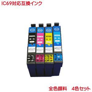 純正品型番ICBK69L(ブラック)、ICC69(シアン)、ICM69(マゼンタ)、ICY69(イエ...