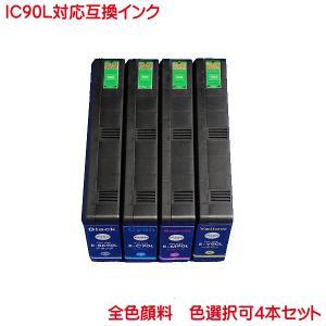 ICBK90L ICC90L ICM90L ICY90L 色数選択自由 4本セット ICチップ付き エプソン 互換インク|kyouwa-print