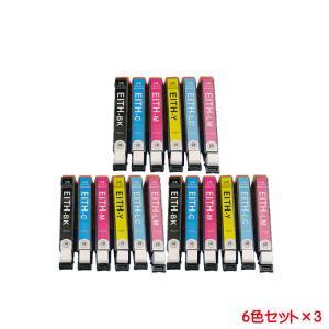 エプソン ITH 対応互換インク 6色セット×3 計18本セット チップ付き( ITH-6CL )ITH-BK ITH-C ITH-M ITH-Y ITH-LC ITH-LM に対応 EP-709Aに|kyouwa-print