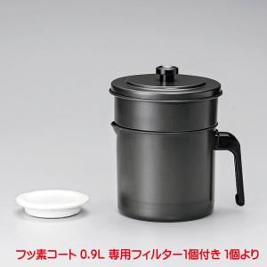 KWP-0.9 フッ素コート 活性炭油ろ過ポットW 0.9L  フィルター 1個付 4975357209283