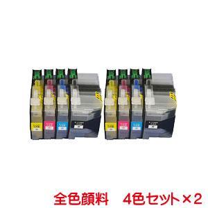 LC3129 対応 互換インク 全色顔料 4色セット×2 計8本セット ICチップ付き|kyouwa-print