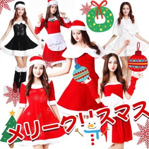 クリスマスサンタクロース コスプレ レディース ワンピースで可愛い 仮装変装 パーティー イベント コスチューム サンタ衣装 サンタガール