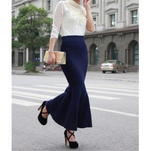 選べるタイトorフレアシルエット♪ 肌触りのよいもっちりとした暖かい素材が自慢のマキシスカートになり...