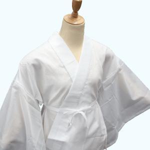 女性用 半襦袢 絽 半襟付 日本製 夏用 白 M/L 和装小物 着付け小物|kyouya