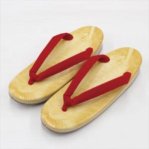 スポンジ草履 赤鼻緒 Lサイズ 23cm×8.5cm 女性用 履物 和装小物 サンド底|kyouya