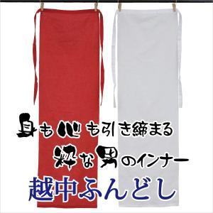 越中ふんどし 赤 白 綿 褌 インナー 下着 祭り お祭用品 下着 【ネコポス対応】|kyouya