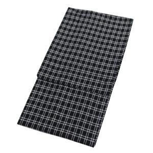 メンズ プレタ 浴衣 単品 男性 ゆかた ユカタ 仕立て上がり 新品 Lサイズ 綿麻 チェック|kyouya