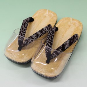 メンズ 時雨草履 LLサイズ  雨草履 日本製 男性用 履物 雪駄 下駄 印伝風 紗綾型|kyouya