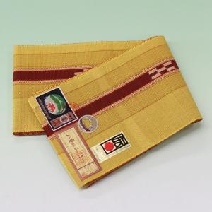 八重山ミンサー織り 送料無料 半幅帯 半巾帯 石垣島産本場手織り みんさー織り からし 女性 レディース 着物|kyouya
