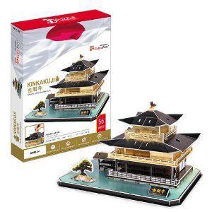 遊び&創意  3Dパズル(金閣寺) kyouzai-j