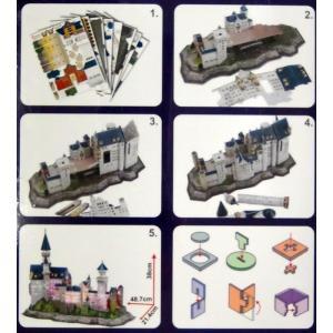遊び&創意 3Dパズル(ノイシュバンシュタイン城)LED搭載|kyouzai-j|03