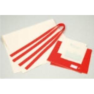 家庭科教材 基礎縫い カラフルトートバッグ (レッド)|kyouzai-j