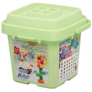 教材 知育玩具 遊び創意 ブロック バケツ112 パステル|kyouzai-j
