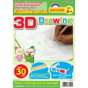 教材 幼児プレイブック英語版 3Dおえかき|kyouzai-j
