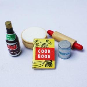 教材 家族工作・大人の工作  ミニチュアドールハウスミニチュアパーツ(クッキングセット)|kyouzai-j