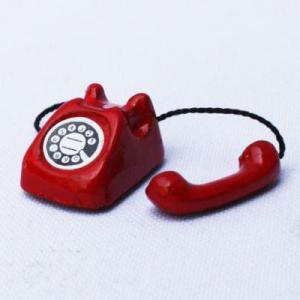 教材 家族工作・大人の工作  ミニチュアドールハウスミニチュアパーツ(赤電話)|kyouzai-j