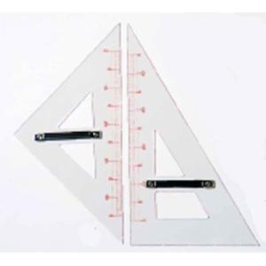 教授用アクリル製三角定規(2個1組)|kyouzai-j