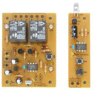 教材 実用ユニットキット 2chリレー付き赤外線リモコン (はんだ付け工作キット)|kyouzai-j