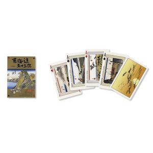 トランプ 和柄 東海道五十三次 広重画 PlayingCards 英語表記 ギフトGift|kyouzai-j
