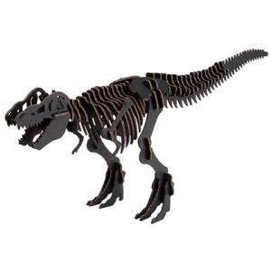 教材 段ボール工作  BLACK LABEL ティラノサウルス (ブラック)|kyouzai-j