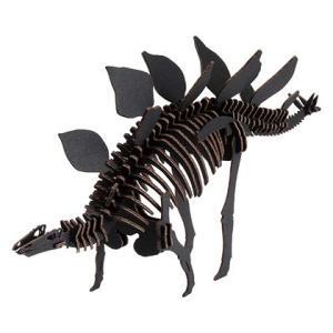 教材 段ボール工作  BLACK LABEL ステゴサウルス (ブラック)|kyouzai-j
