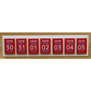 めくって貼れる!卓上型の日めくり付せんカレンダー2019 himekuriヒメクリ colorkuriカラクリ kyouzai-j