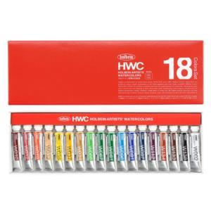 美術教材 絵具 ホルベイン透明水彩絵具18色セット(5ml) kyouzai-j
