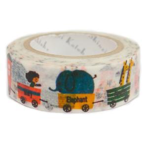 マスキングテープ   animal train マスキングテープ|kyouzai-j