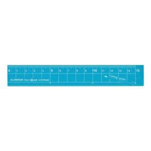 学童用品 定規   アルミ定規ブルー(15cm)|kyouzai-j