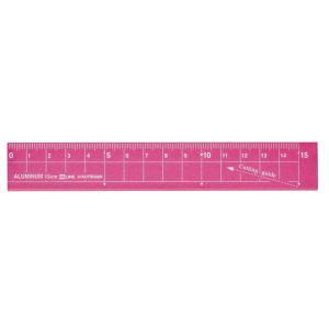 学童用品 定規   アルミ定規ピンク(15cm)|kyouzai-j