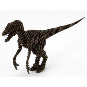 FLATS 4D ART PUZZLE(フラッツ4Dアートパズル) 恐竜段(きょうりゅうだん) Raptorラプター 黒 kyouzai-j