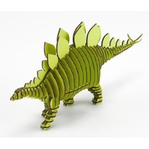 FLATS 4D ART PUZZLE(フラッツ4Dアートパズル) 恐竜段(きょうりゅうだん) Stegosaurusステゴサウルス ピスタチオグリーン kyouzai-j