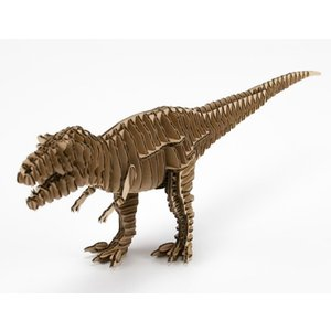FLATS 4D ART PUZZLE(フラッツ4Dアートパズル) 恐竜段(きょうりゅうだん) Trex ティラノサウルス ナチュラル kyouzai-j