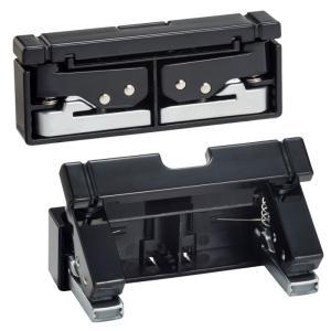 LIHIT LABリヒトラブ コンパクトパンチ P-1040ブラック 黒  折りたたみ ワンタッチ式携帯穴あけ|kyouzai-j