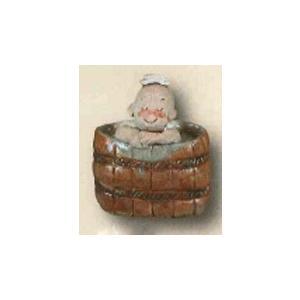 (和雑貨)手作りの陶人形 一休さん お風呂|kyouzai-j