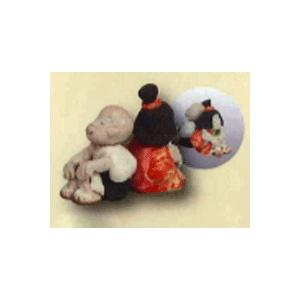 作陶家が心を込めて創る縁起と癒しの置物たち 細川智晴作 一休さんのシリーズ (一休さんとさよちゃん背...