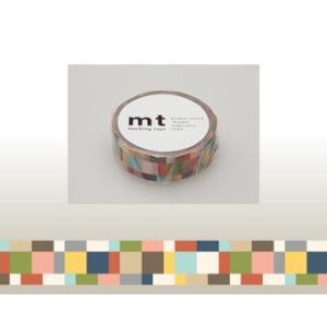 マスキングテープ mt1Pモザイク・グレイッシュ|kyouzai-j