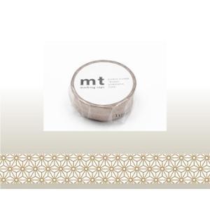 マスキングテープ mt1P麻の葉・真鍮|kyouzai-j