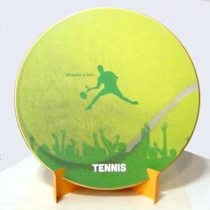 おもしろ教材 シノコマ スポーツ色紙(封筒・紙製スタンド付き)テニスボール(シルエット) 部活色紙 kyouzai-j