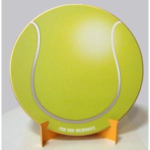 おもしろ教材 シノコマ スポーツ色紙(封筒・紙製スタンド付き)テニスボール(リアル) 部活色紙 kyouzai-j