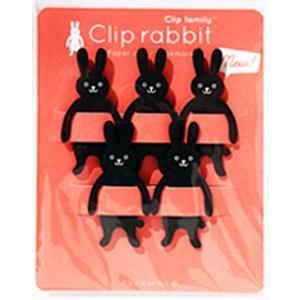 「おもしろ文具」クリップファミリー アニマル『クロウサギ』SW-CF-KU|kyouzai-j