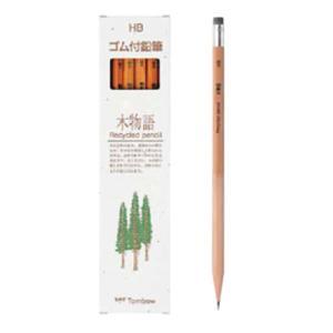 学童用品 鉛筆   トンボ ゴム付鉛筆 木物語(HB)|kyouzai-j