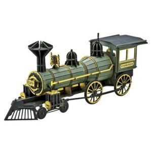 『3D立体ペーパーパズル』大人のペーパークラフト『蒸気機関車グリーン』|kyouzai-j