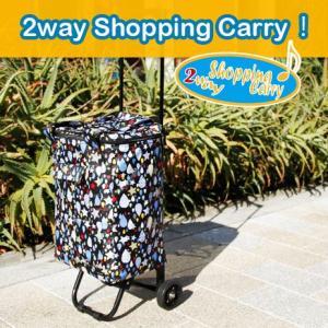 ショッピングカート おしゃれ カジュアル柄2wayショッピングキャリー|kyowa-bag