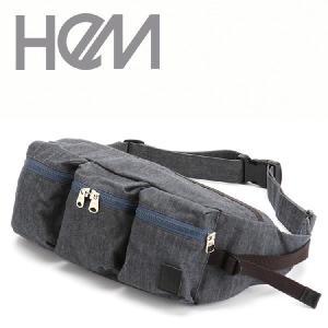 バッグ ボディバッグ レディース HeM hem ヘム 3ポケット ボディバッグ CP-168-01 ウェストポーチ ウエストバッグ ウエストバック ボディバック kyowa-bag