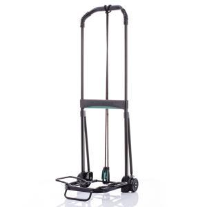 キャリーカート 折りたたみ コンパクトな折りたたみ式台車 ABS+アルミキャリーカート ブラック 耐荷重50kg 大型 運動会 ハイキング 荷物|kyowa-bag