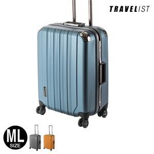 スーツケース TRAVELIST  TSAロック搭載ポリカーボネート製 プレミウム 大型 MLサイズ 【送料無料/1年保証/スーツケースベルト特典】あすつく対応|kyowa-bag